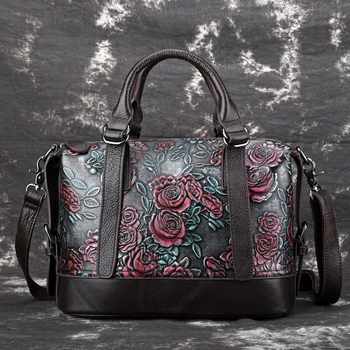 2019 Luxury Brand Designer Women Handbags Genuine Leather Crossbody Shoulder Bag Female Flower Messenger Bag Fashion Ladies Tote