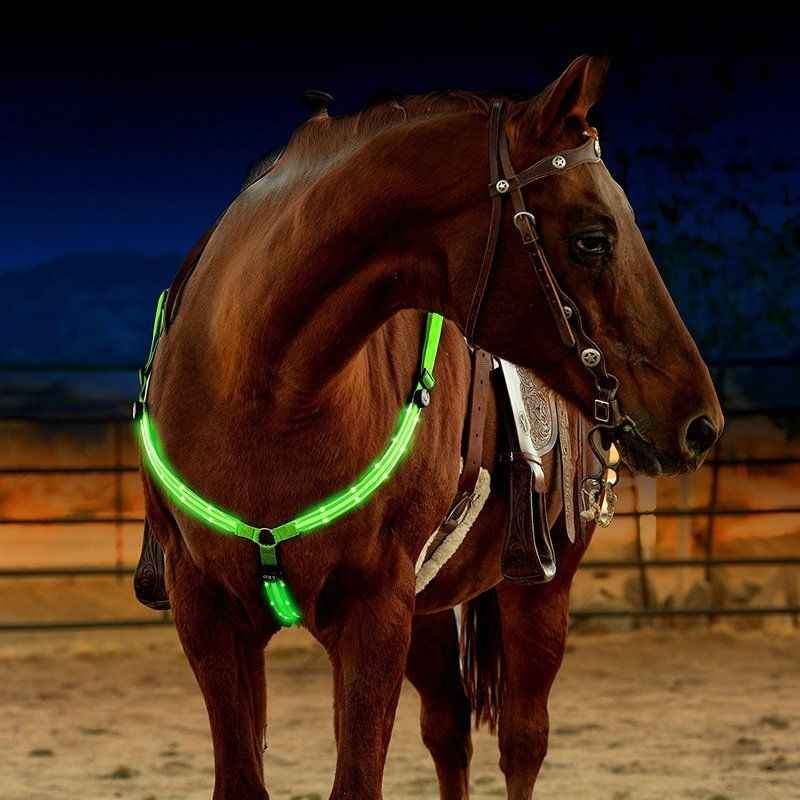 Светодиодный конский жгут нагрудник нейлоновая тесьма ночной Видимый оборудование для верховой езды Paardensport Racing Cheval Equitation