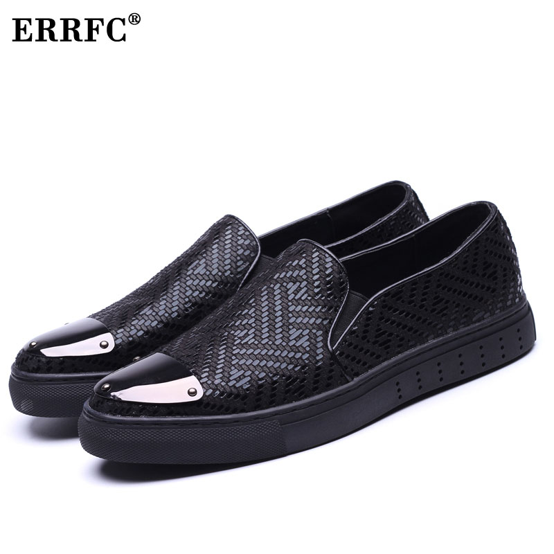 ERRFC New Arrival Silver Casual Shoes Men Round Toe Slip On Glitter Bling  Black Loafer Shoes Man Breathable Hombre Zapatos-in Men s Casual Shoes from  Shoes ... 4053ac4fc9a9