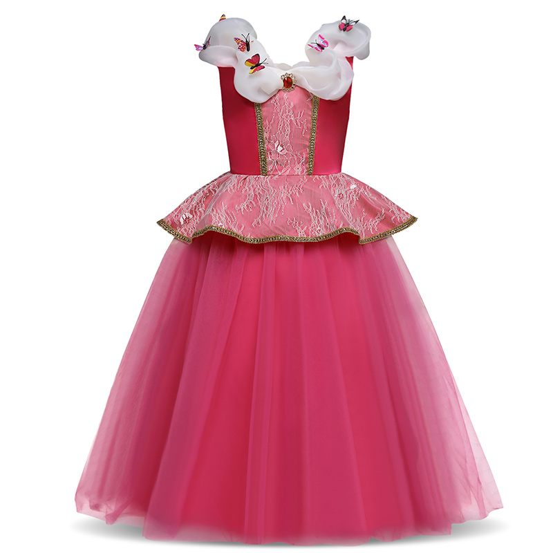2018 Summer Butterflies Sleeveless Princess Cosplay Clothing For Kids Girl Dresses 4-10 Years Party Clothes For Girls Toddle