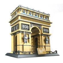 2016 New Wange 8021 1401Pcs City Creator Arc de Triomphe Building Kits Minifigure Blocks Bricks Toys Gift Compatible With Gift