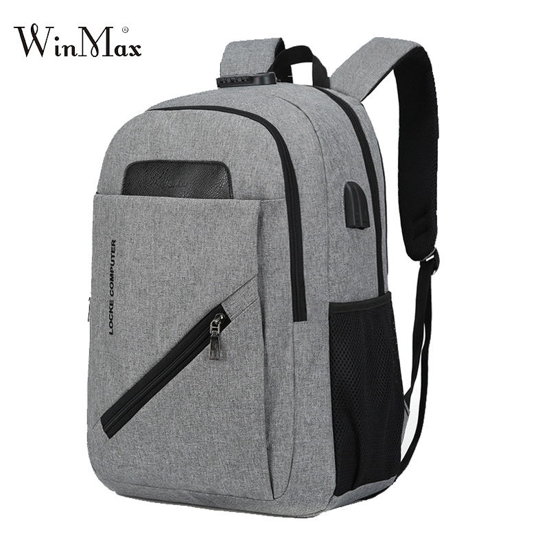 2018 Anti-thief USB Bagpack Laptop Backpack For Men Code Lock School Backpack Student Book Bag For Boy Girls Male Travel Mochila men original leather fashion travel university college school book bag designer male backpack daypack student laptop bag 9950