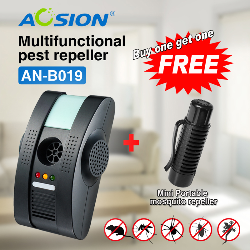 Buy Free shipping Ultrasonic Electromagnetic pest cockroach fly repeller pest reject control ( Got portable mosquito repeller )