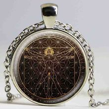 Vitruvian Man Necklace