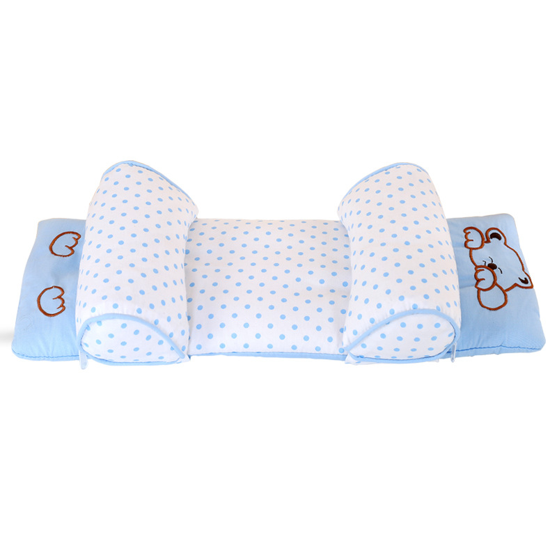 Baby Toddler Safe Cotton Anti Roll Pillow Sleep Head Positioner Anti-rollover Z