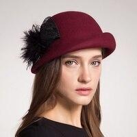 Autumn Winter Women Beret Hats 100 Australia Wool Artist Felt Berets French Bow Boina Feminino Hats