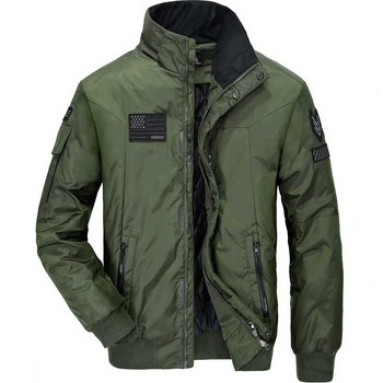 Autumn Winter Bomber Jacket Men Casual Baseball Jacket Coat Stand Collar Military Army Male Korean Fashion Clothing Plus Size