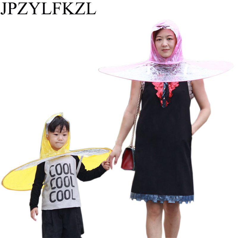 Raincoat for children Headwear Hat Cap Outdoor Fishing Golf Child Adult Rain Coat Cover Transparent Umbrellas duck raincoat