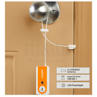 2 шт./упак. портативный дорожный дверной сигнализатор Входная защита Охранная Сигнализация 100 дБ фонарик для дома  офиса  квартиры  отеля без...