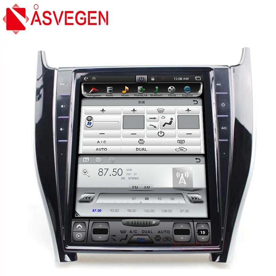 Asvegen 12.1 ''Vertical Tesla Android 6.0 lecteur de Radio stéréo DVD de voiture pour Toyota Harrier Auto Navi stéréo Headunit multimédia