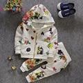 Clásicos Para Niños Sistemas de la Ropa 2016 Muchachas Del Invierno Ropa de Navidad Impresiones de Graffiti Sudaderas + Pantalones Casuales para Niños trajes del G-17