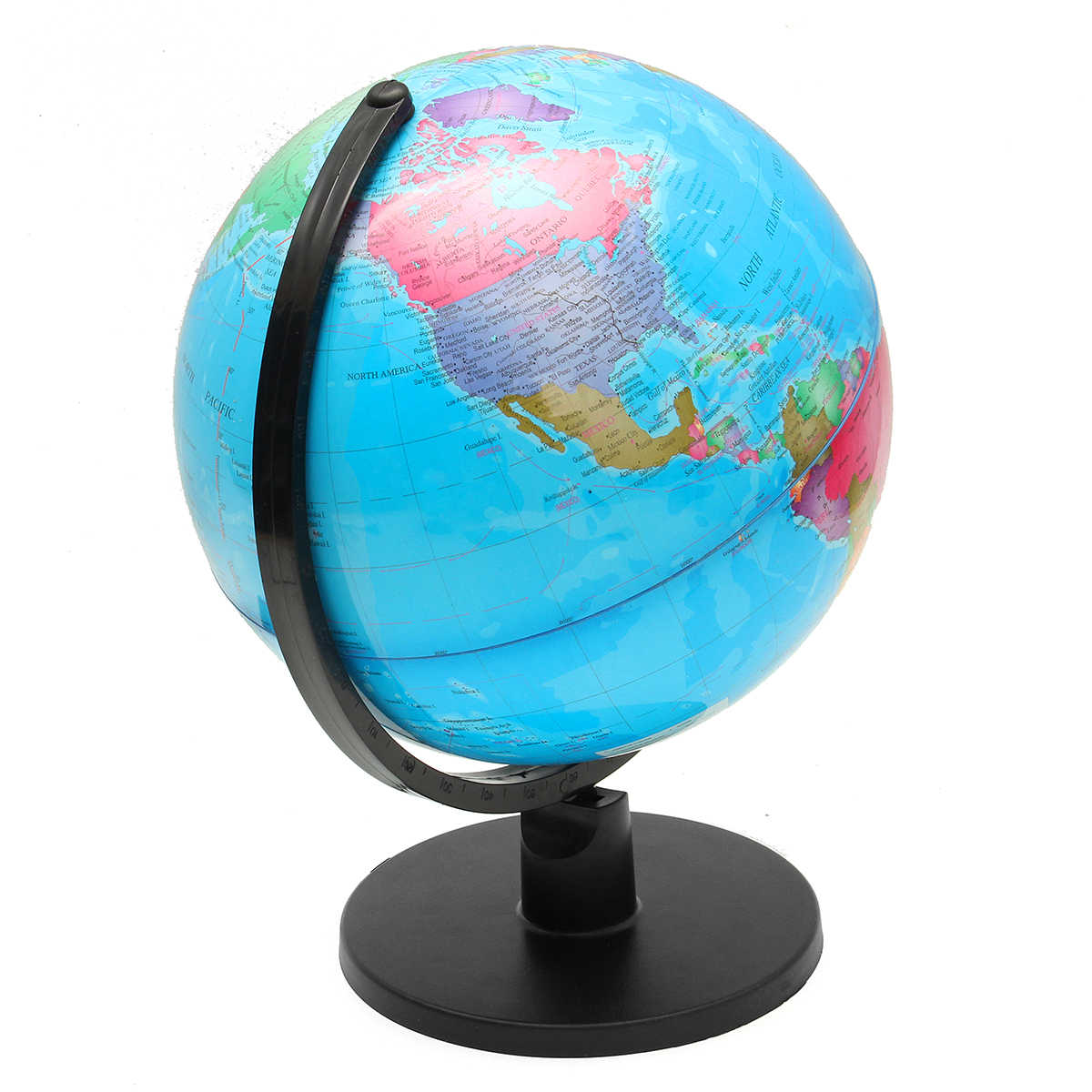 Map 20cm Earth Globe World Map Geography Educational Toy For Desktop Decoration Home Office Aid Miniatures Kids Gift Fine Quality Office & School Supplies