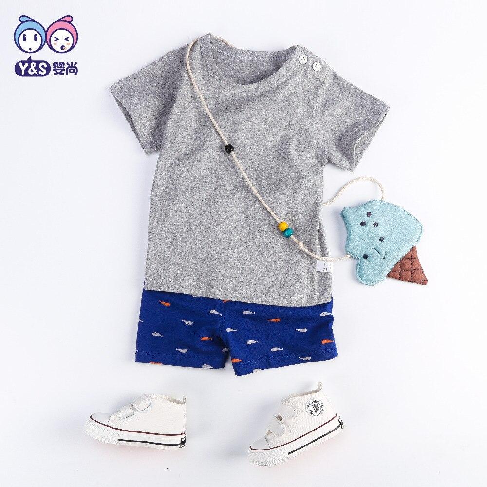 Wisbibi 2018 new summer bébé 2 pcs vêtements ensembles t-shirt + pantalon Marque Garçons Vêtements Enfants Garçons Vêtements pur bébé garçons ensembles