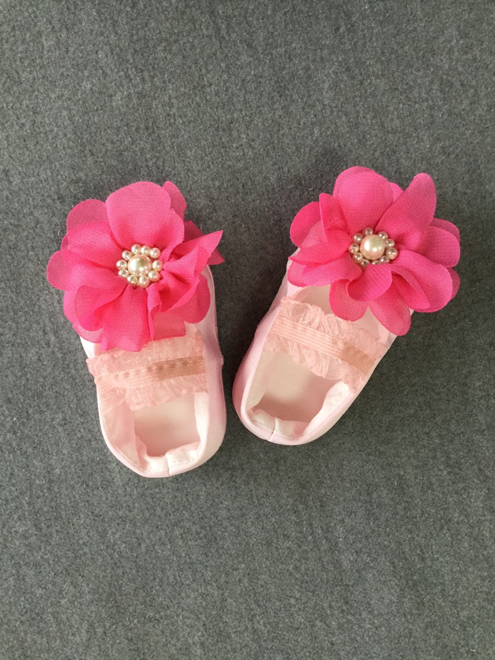 Baby girl hot pink flower christening shoes satin baptism wedding baby girl hot pink flower christening shoes satin baptism wedding flower girl newest in first walkers from mother kids on aliexpress alibaba group mightylinksfo Choice Image