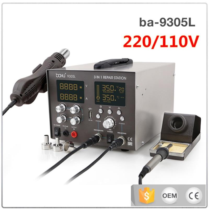 ba-9305L digital display soldering iron, 3 in 1 soldering station, mobile phone motherboard repair tools цена