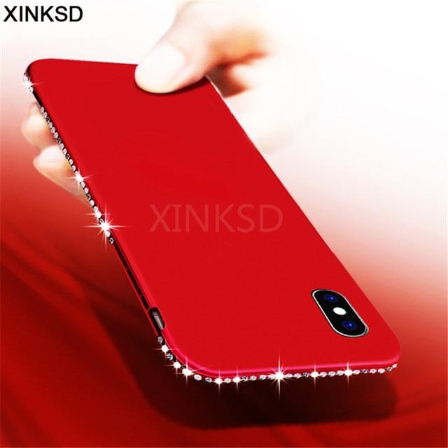 Candy Diamond Phone Case For iPhone SE 5 5s X 7 6 s 8 6S Plus XS Max XR Glitter Rhinestone Soft Silicone Cases Fundas Capa