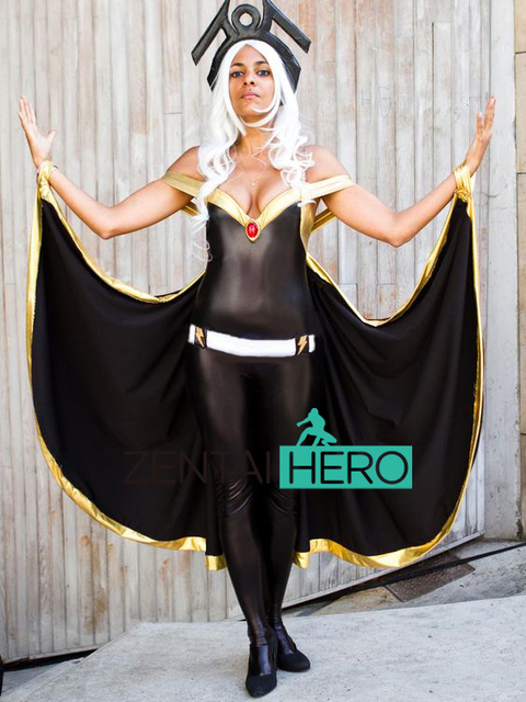 Free Shipping NEW Sexy Women X- Men Ororo Munroe Storm Costumes Black Shiny Superhero Cosplay  sc 1 st  AliExpress.com : storm costume  - Germanpascual.Com