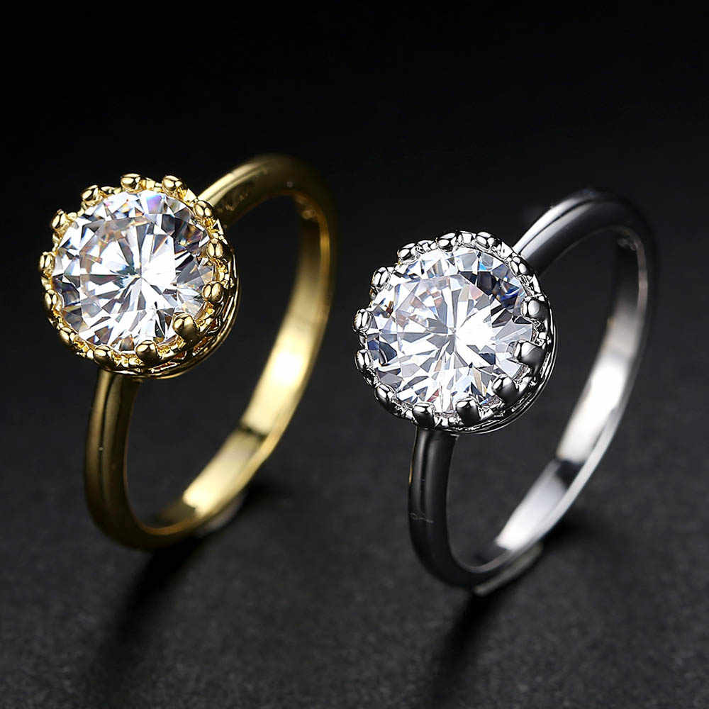 Fashion Silver Ring For Women Rhinestone Finger cz Rings Female Engagement Ring Stainless Steel Jewelry Anel Party Gift keyring