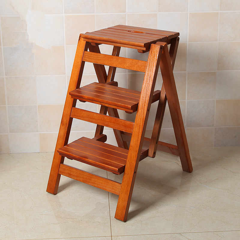 Remarkable Multi Functional Ladder Stool Chair Bench Seat Wood Step Stool Folding 3 Tier For Any Task Around The Kitchen Office Bathroom Gmtry Best Dining Table And Chair Ideas Images Gmtryco