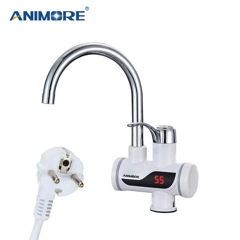 ANIMORE Elektrische Wasser Heizung Instant Wasser Heizung Wasserhahn Wasser Heizung Kalte Heizung Wasserhahn Tankless Durchlauferhitzer