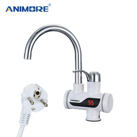 ANIMORE Electric Water Heater Instant Water Heater Faucet Water Heater Cold Heating Faucet Tankless Instantaneous Water Heater