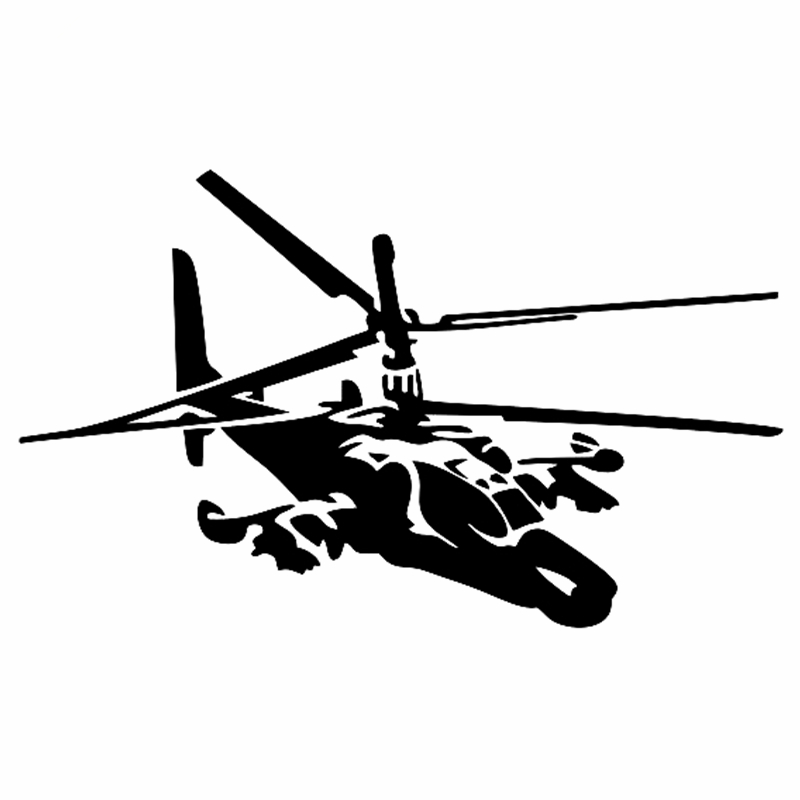 CK2412#20*12cm Ka-50 Helicopter Car Sticker Vinyl Decal Silver/black Car Auto Stickers For Car Bumper Window Car Decoration