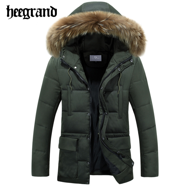 HEE GRAND Hot Sale Winter Men Thick Warm Brand Clothing Jackets Outwear Casual Fashion Cotton Parkas Male Coats MWM1550