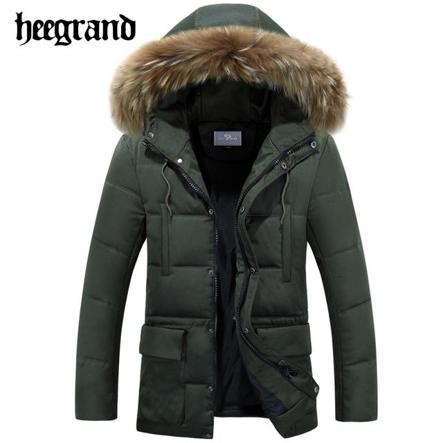 Hee grand venda quente de inverno homens parkas algodão quente grosso roupas de marca casacos casacos moda casual masculino casacos mwm1550