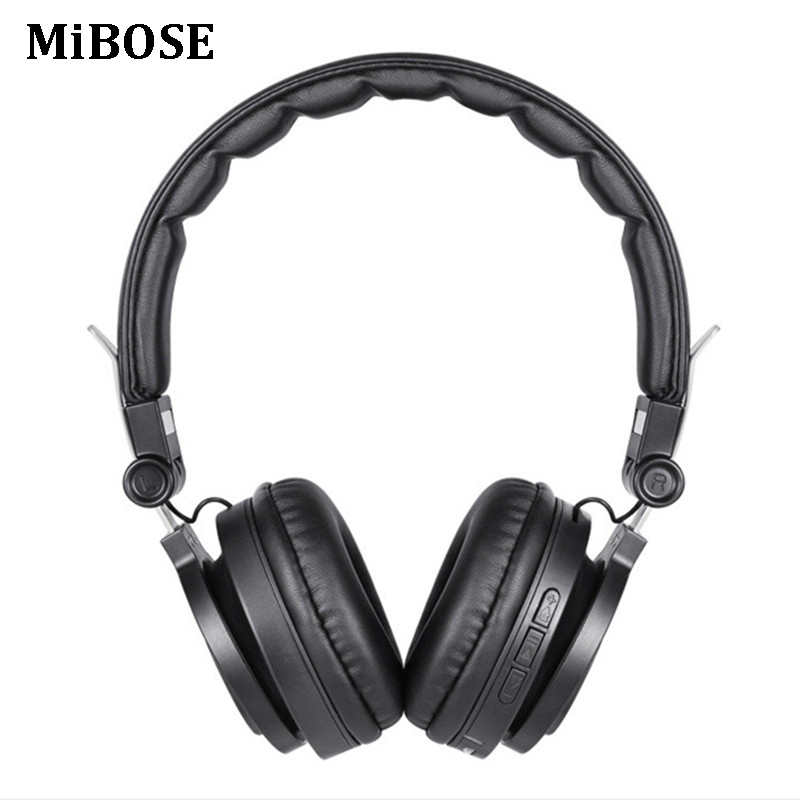 MiBOSE Bluetooth headphones Wireless Foldable Headset Bass Stereo earphones fone de ouvido support TF card with Mic for phones ks 509 mp3 player stereo headset headphones w tf card slot fm black