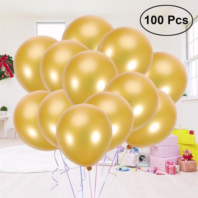 "New 100 pcs 10/"" Pearl Latex Celebration Party Birthday Wedding Decorate Balloon"