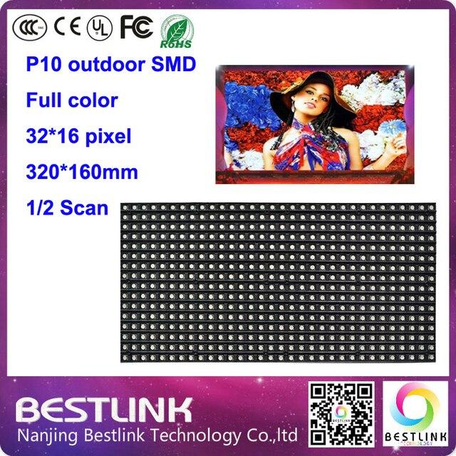 Светодиодный дисплей модуль p10 открытый полный цвет светодиодные панели 320*160 мм 2 сканирование rgb светодиодный экран входа светодиодный видео стены электронные светодиодные