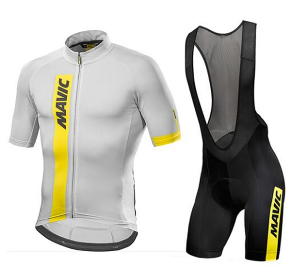 2017 Mavic Quick Dry Short Sleeve Cycling Clothing Breathable Bike Riding Wear Ropa Ciclismo Bicycle Jersey 9D Gel Pad Pants Bib