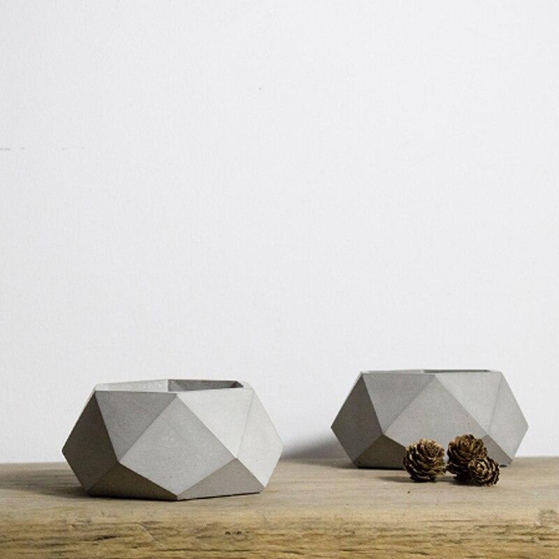 화분 기하학 다면체 시멘트 화분 금형 정원 장식 도구에 대한 nicole 실리콘 콘크리트 금형-에서점토 몰드부터 홈 & 가든 의  그룹 1