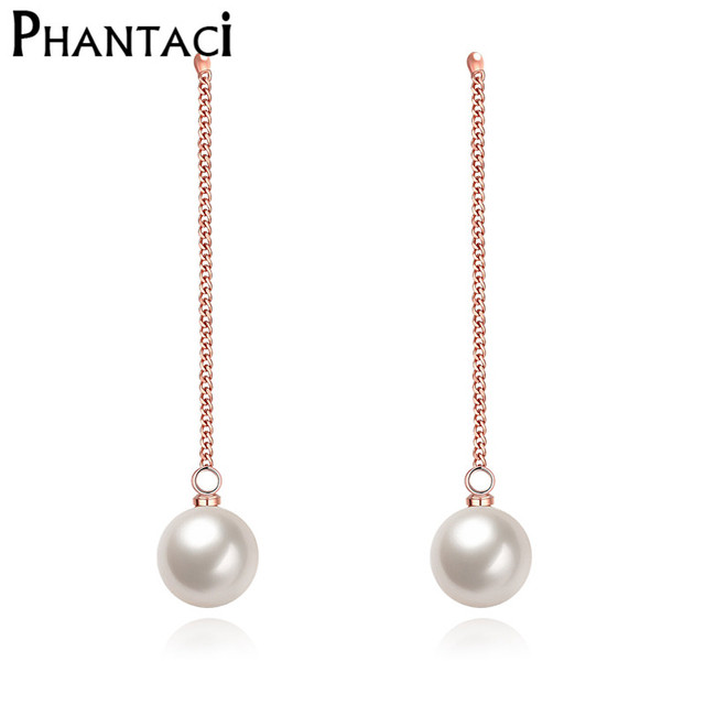 s drop pearl claire long earrings