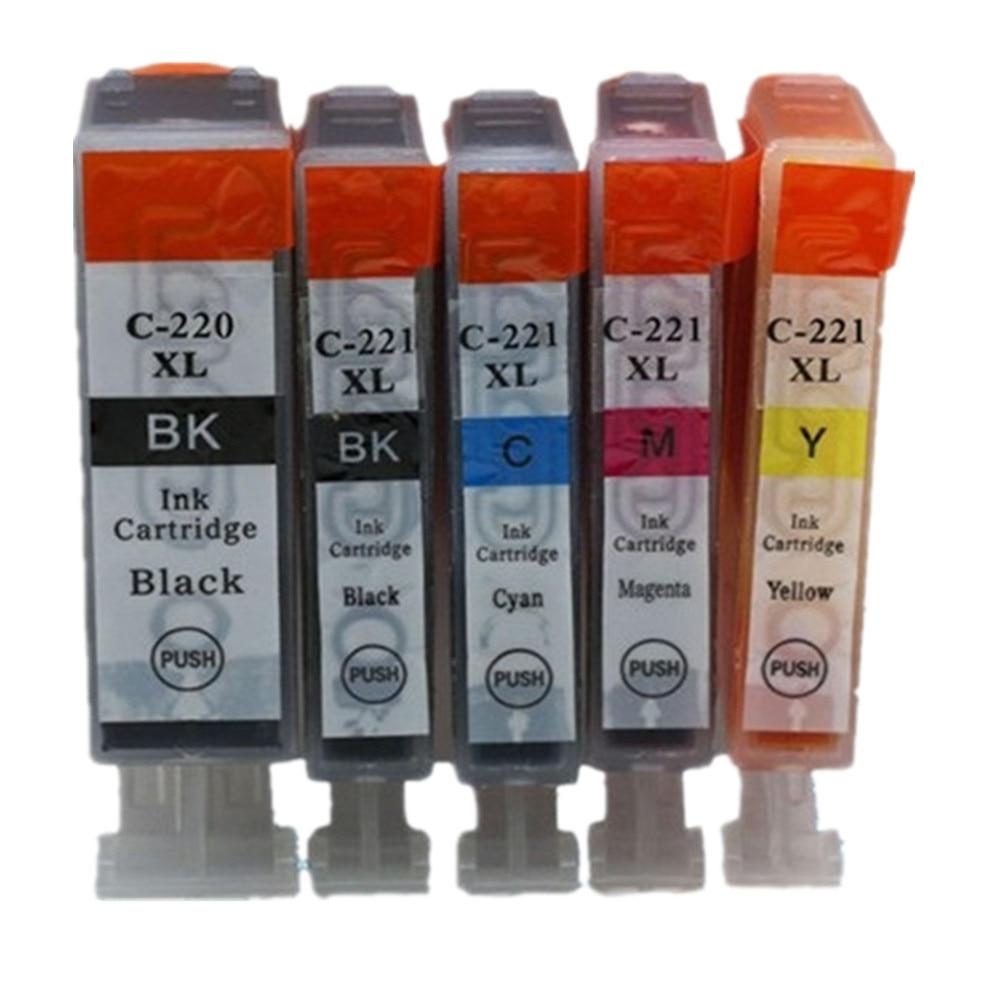 PGI-220 CLI-221 PGI-220XL PGI 220 XL PGI220 PGI220XL Ink Cartridge For Canon Pixma MP550 MP560 MP620 MP620B MP630 Inkjet Printer