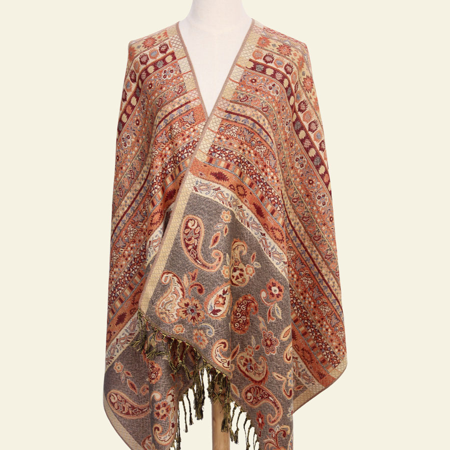 Paisley Tippet fra India Winter Scarf Ethnic Scarves Mote Stolt Bomull Indian Echarpe 190 * 70cm