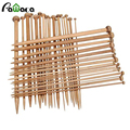 36Pcs/set 18 Sizes Sewing Knitting Needles Tools Carbonized Bamboo Single Pointed Smooth costura Crafts Accessories Manualidades