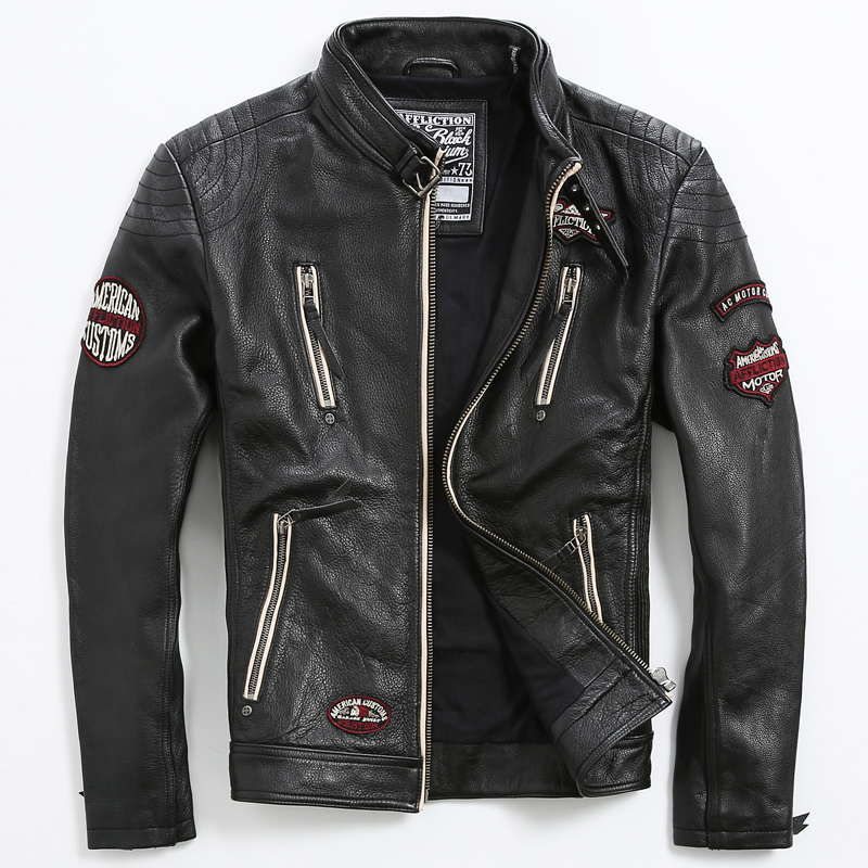 Aliexpress.com : Buy Genuine Leather Coat Embroidery