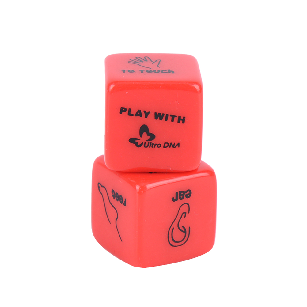 2pcs/set 6 Positions Sex Dice Punishment Sexy Romance Love Humour Gambling Adult Games Erotic Craps Pipe Toy For Couples
