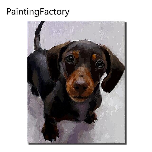 PaintingFactoryT eddy Tranh By Numbers Nội Thất Hiện Đại, Tường Nghệ Thuật Acrylic Sơn Trên Canvas Hand Painted con số Màu Sắc món quà Con Chó
