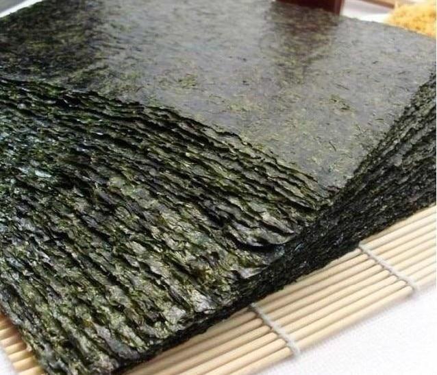 100 шт. Nori морские водоросли для суши + бесплатный инструмент, сушеные водоросли Nori для суши, оптовая продажа, высококачественные водоросли нори-5