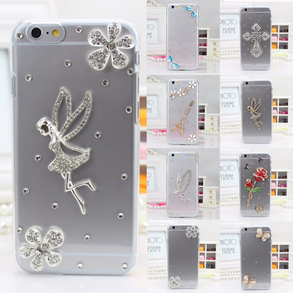 TPU+PC Acrylic Bling Rhinestone cases For galaxy J3 EmergeJ3 PrimeJ3 2017(US Version),3D Handmade Cute Soft Diamond Phone Case