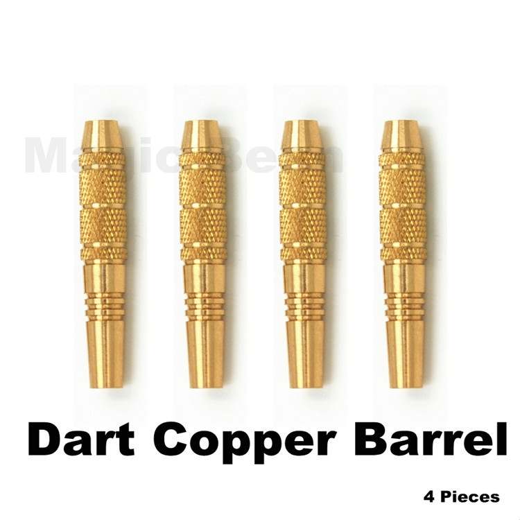 Free Shipping Professional Copper Dart Barrel for Nylon/Steel darts tip; Dart Accessories 4 pieces;48mm 16g