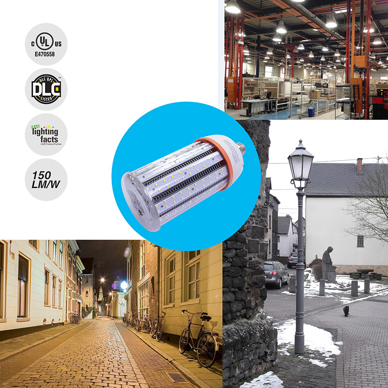 NS LED Light Bulbs 60 Watt Equivalent 200w HPS HID with Cover High Lumen 150lm/w Outdoor Use 3 Years Warranty