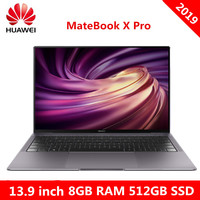 Original HUAWEI MateBook X Pro 2019 Laptop Windows 10 Intel Core I5 8265U i7 8565U 8GB RAM 512GB SSD PC Fingerprint