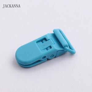 Image 4 - 100PCS 20mm KAM แบรนด์พลาสติก Dummy คลิปโปร่งใส Pacifier Clips สำหรับทารกอุปกรณ์เสริม