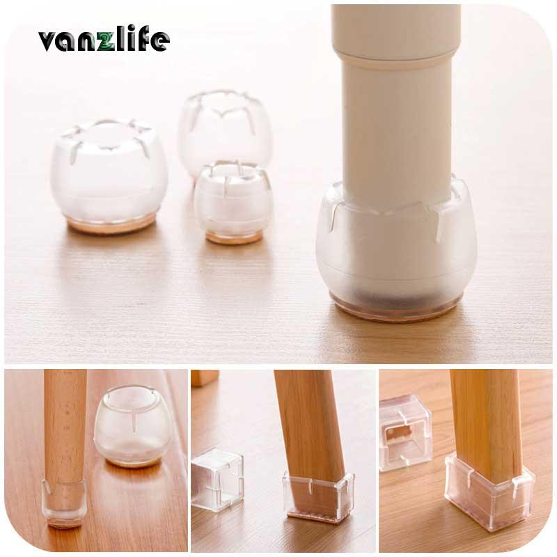 2pcs/vanzlife Non-slip Chairs Shackle Table Feet Pad Silicone Thick Cushions Chair Leg Protector