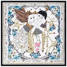 ФОТО ternence 2018 new design 12 colors luxury brand square silk scarf woman hair chiffon scarf 70cm*70cm