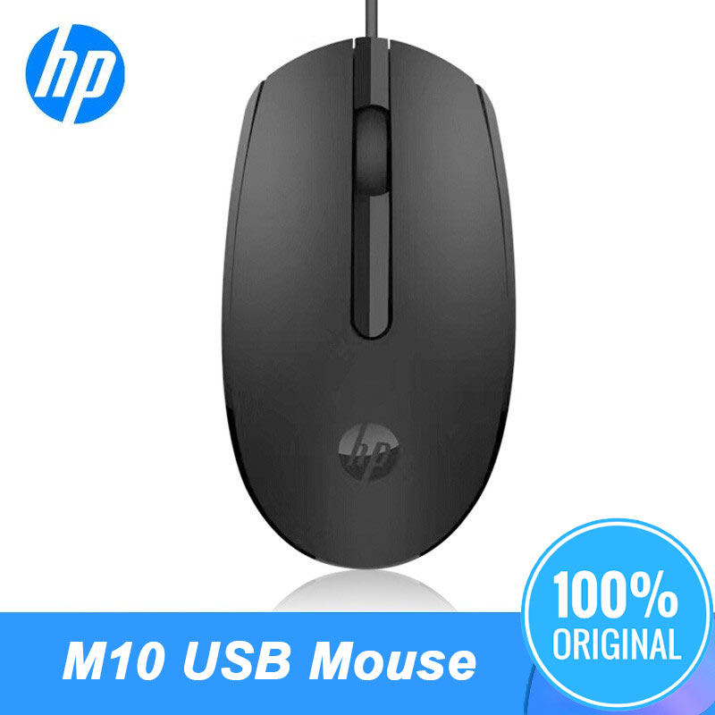 Orignal HP Optical Laptop Mouse Portable Desktop Notebook Computer Office USB Wired Gaming Black & White New Mause 1000 DPI