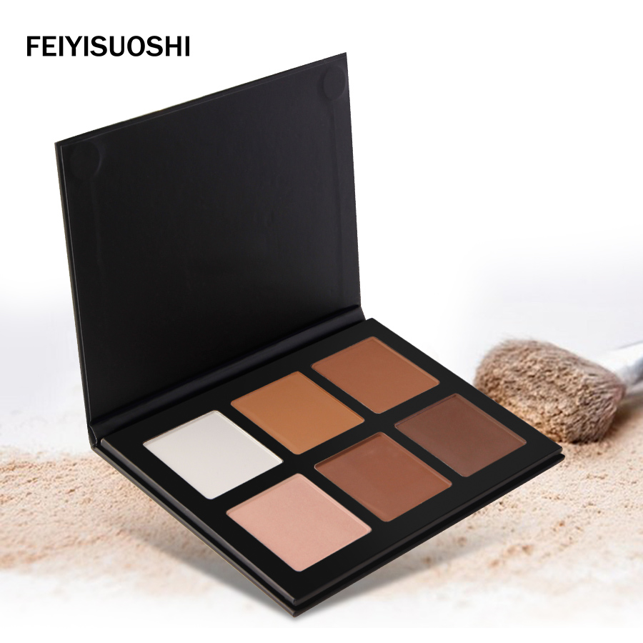 Professional Makeup Brand Face Pressed Powder Concealer Whitening Make Up Grooming Highlight Contour Powder Palette Cosmetics